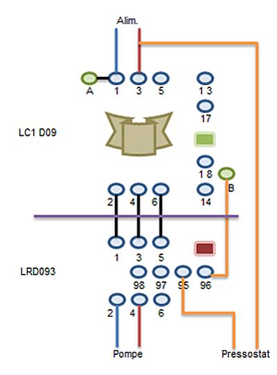 cablage d'un boitier de demarrage LE1-D093 Moteur11
