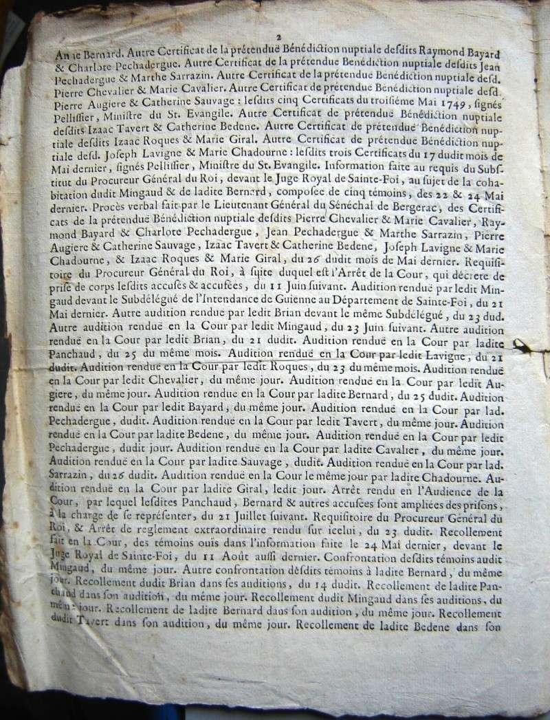 Arrêt de la Cour du Parlement de Bordeaux 1749 1749-111