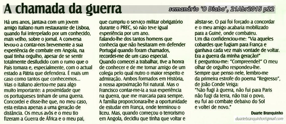 """«A chamada da guerra"""", por Duarte Branquinho A-cham10"""