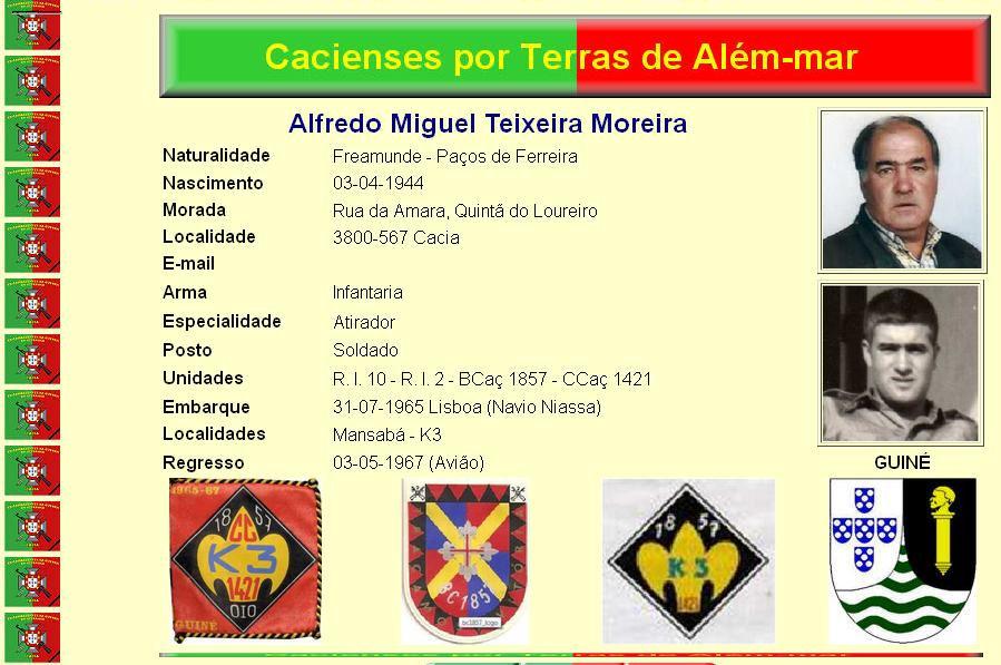 Faleceu o veterano Alfredo Miguel Teixeira Moreira da CCac1421/BCac1857 - 11Mai2015 Alfred10
