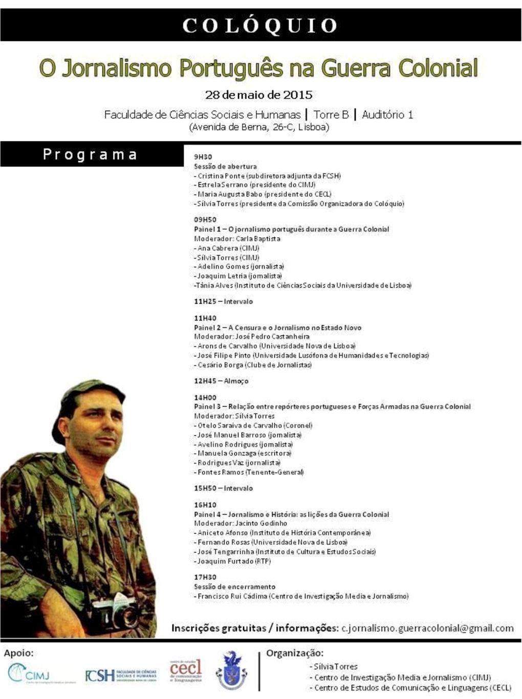 """Colóquio """"O Jornalismo Português na Guerra Colonial"""" - 28Mai2015 Coloqu10"""