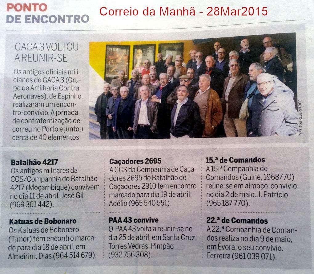 Encontros Convívios de ex-Militares Portugueses, in Correio da Manhã, de 28Mar2015 Encont10
