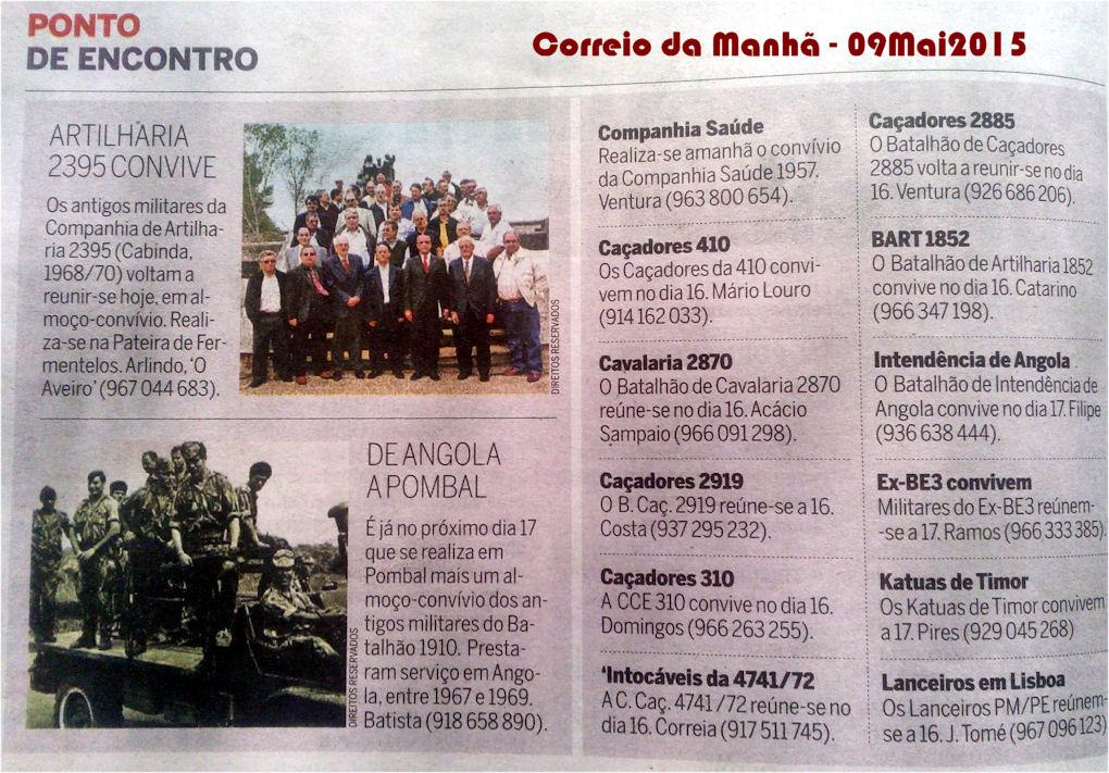 Encontros Convívios de ex-Militares Portugueses, in Correio da Manhã, de 09Mai2015 Encont11