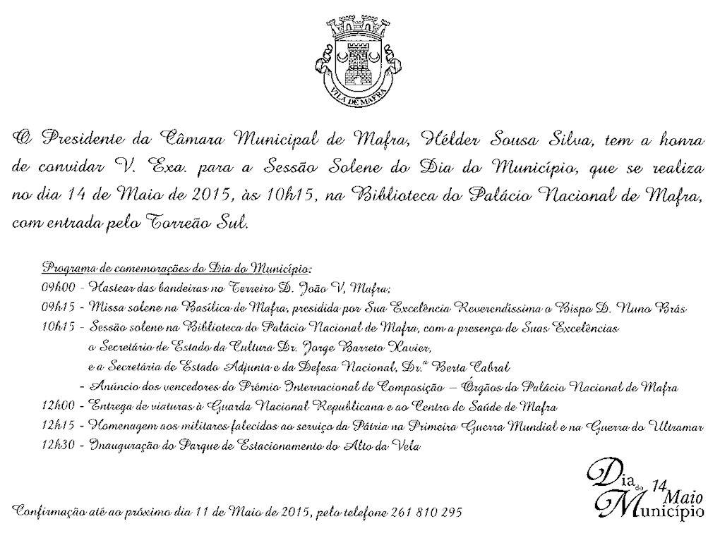 Inauguração dos memoriais aos Combatentes do Concelho de Mafra falecidos ao serviço da Pátria Progra10