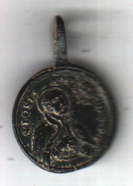 """Médaille du XVIIIème - Ordre des Piaristes -  Vierge Miraculeuse de la Consolation  - revers """"jose"""" (Joseph sans doute) A1811"""