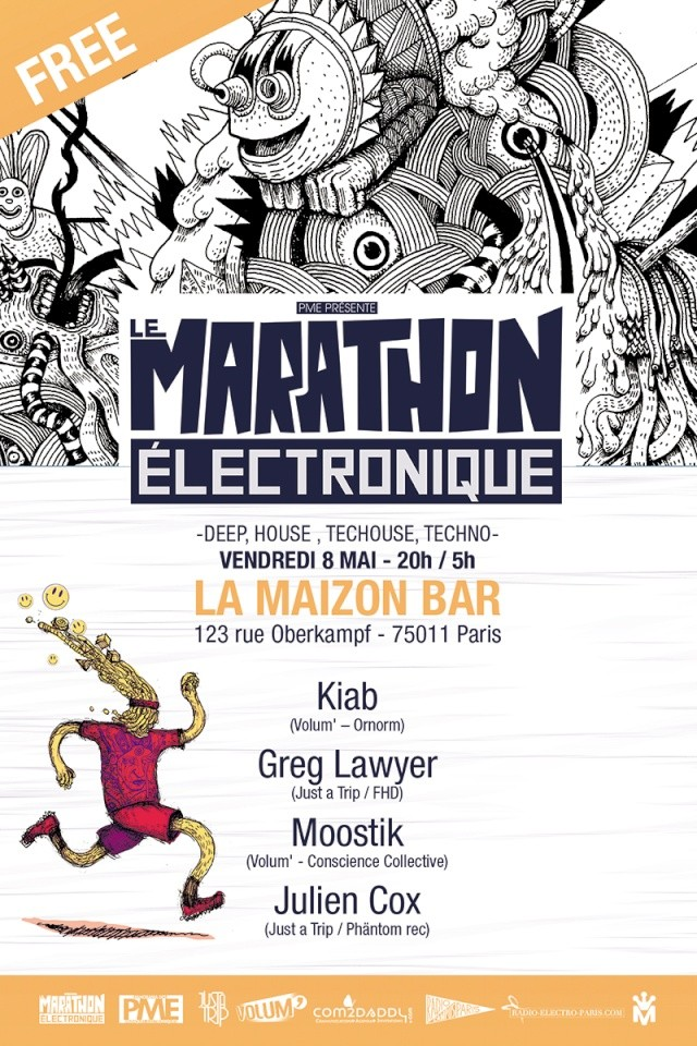 Le Marathon Electronique @ La Maizon bar: 8/05/15 - Paris 11 Marat_10