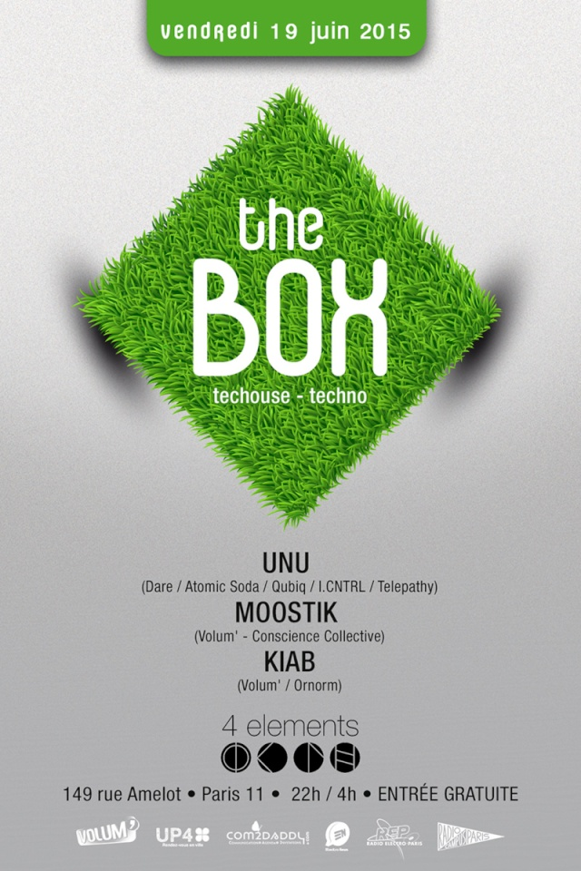 THE BOX: UNU - KIAB & MOOSTIK: 19/06/15 - 4 Eléments (Paris) The_bo10