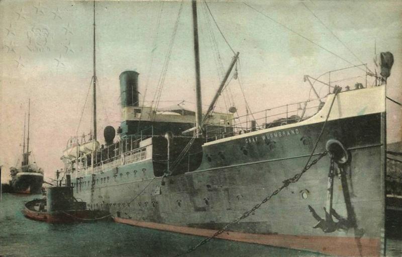 'Graf Wurmbrand' - Österreichishe Lloyd  -  1895 Nave_g12