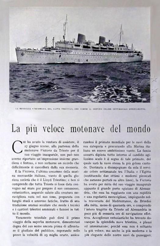motonave 'Victoria' - Lloyd Triestino - 1931 Pagina10