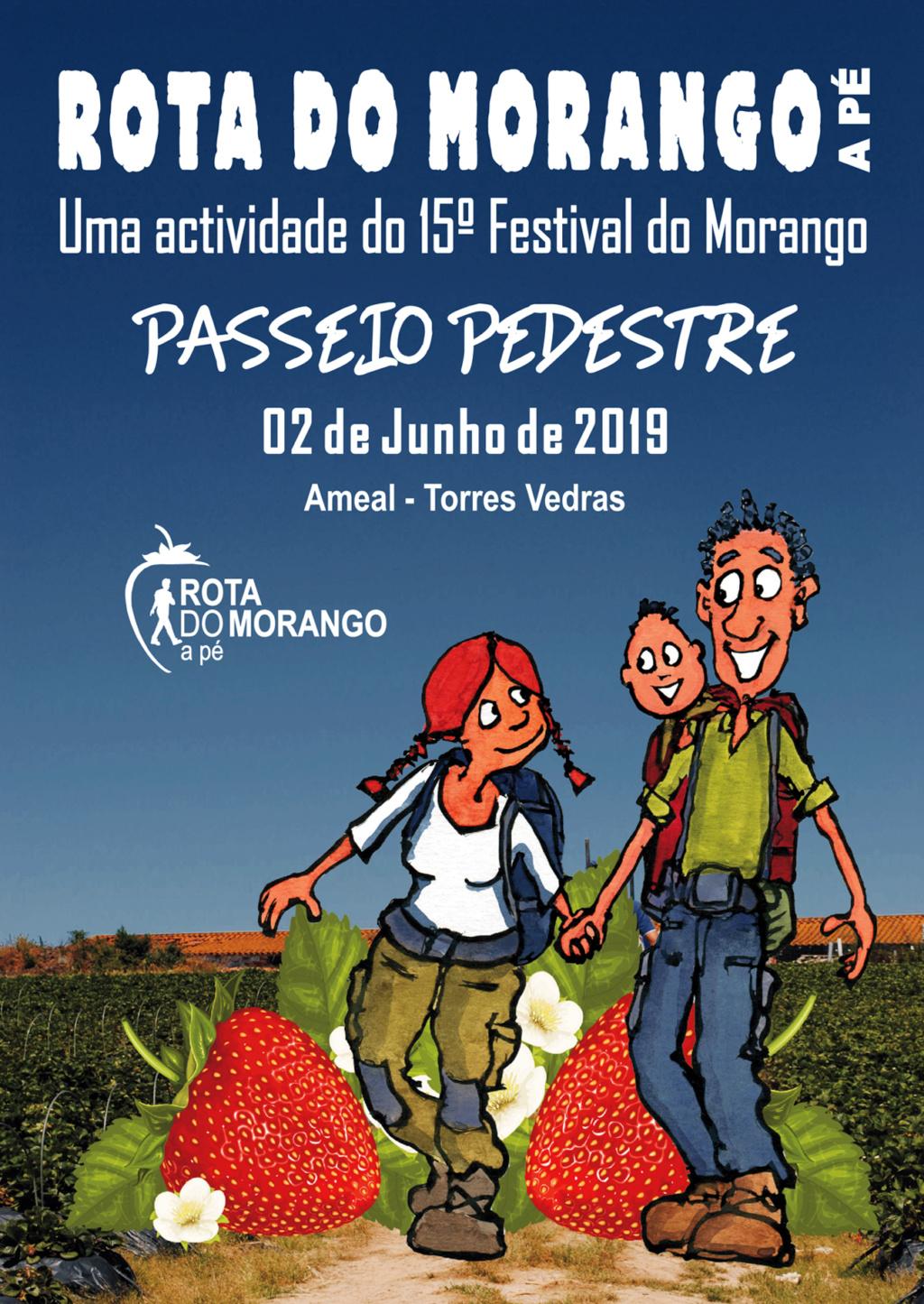 """2019/06/02 - Passeio Pedestre """"Rota do Morango a Pé"""" Ameal - Torres Vedras Cartaz12"""