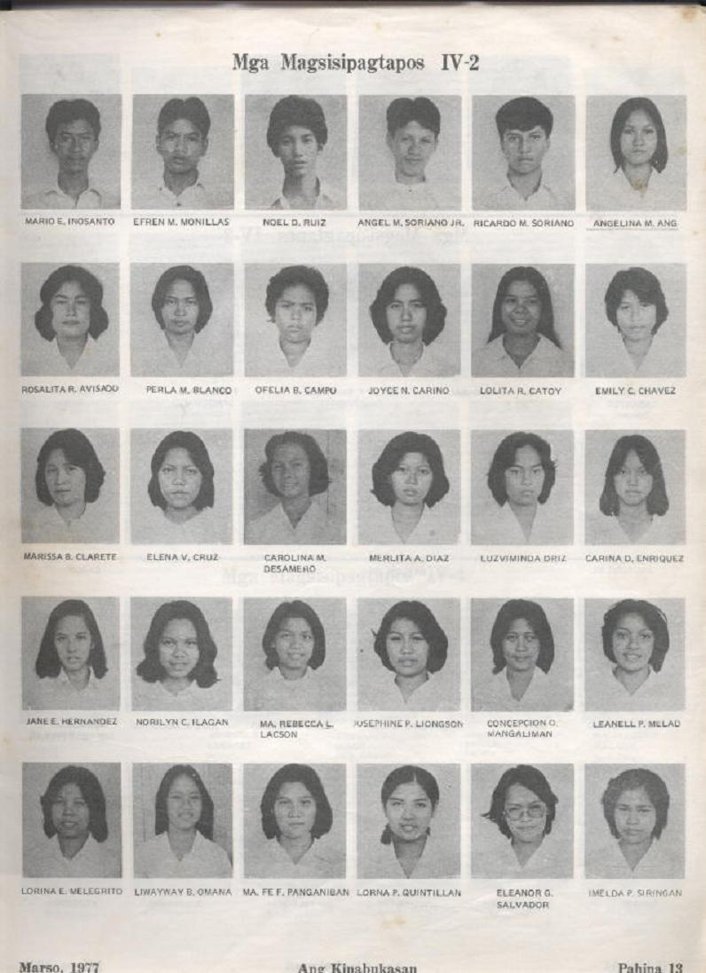 """ANG KINABUKASAN"" – ARAULLO HIGH SCHOOL BATCH 1977 YEARBOOK Ang_ki15"