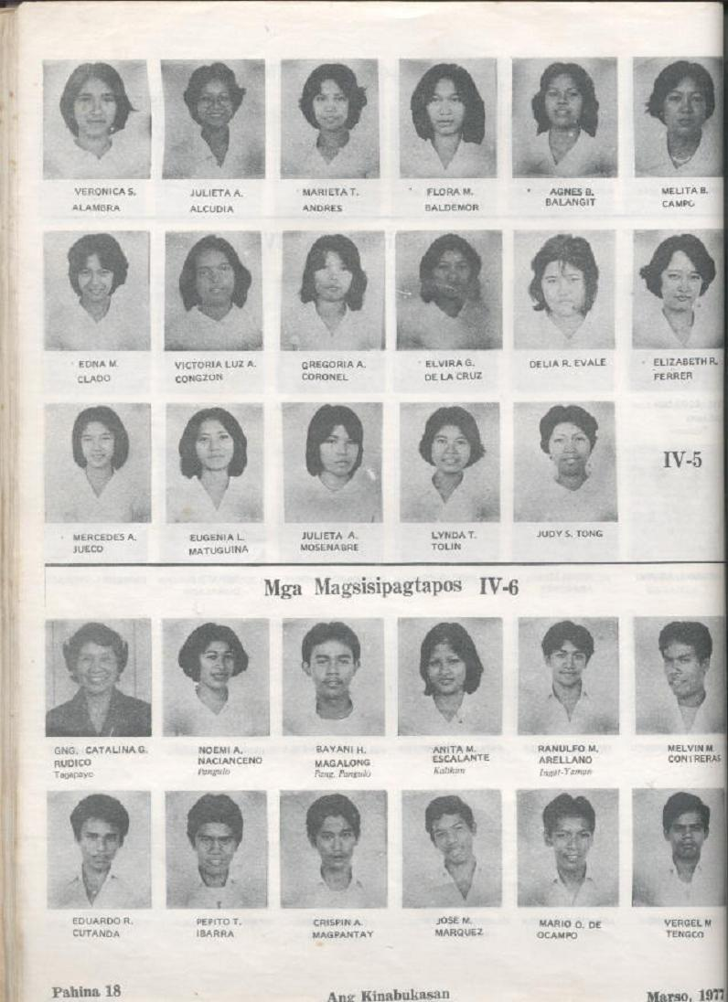 Versiculos De La Biblia De Animo: ARAULLO HIGH SCHOOL BATCH 1977 YEARBOOK