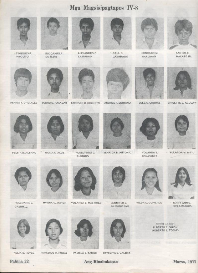 """ANG KINABUKASAN"" – ARAULLO HIGH SCHOOL BATCH 1977 YEARBOOK Ang_ki24"