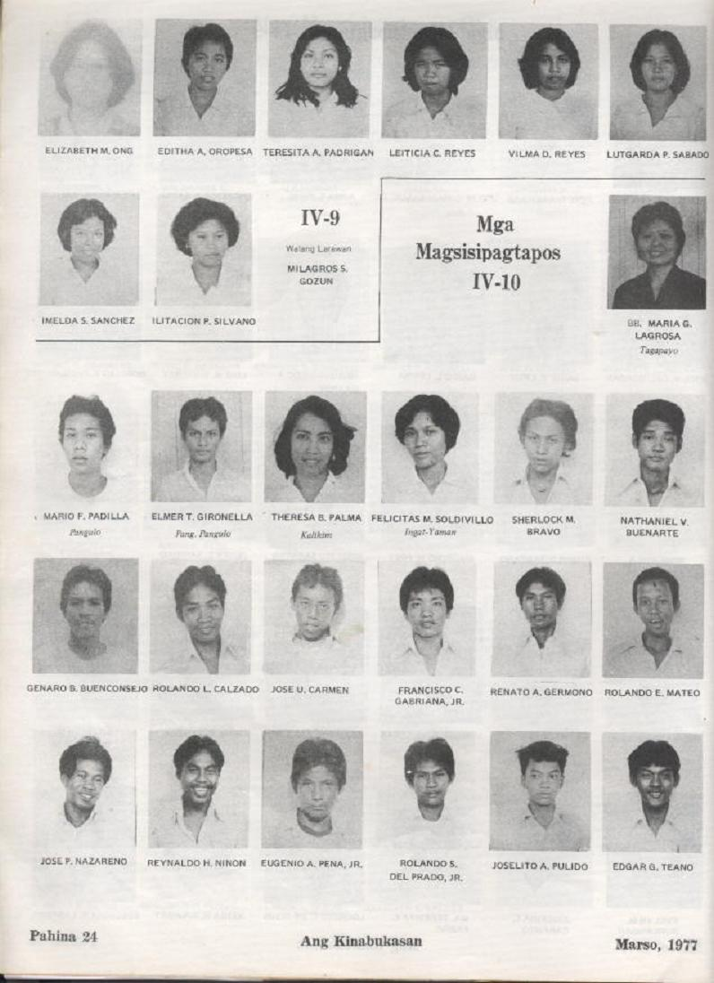 """ANG KINABUKASAN"" – ARAULLO HIGH SCHOOL BATCH 1977 YEARBOOK Ang_ki26"