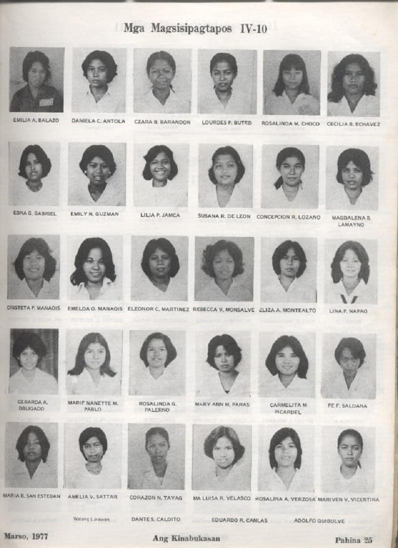 """ANG KINABUKASAN"" – ARAULLO HIGH SCHOOL BATCH 1977 YEARBOOK Ang_ki27"