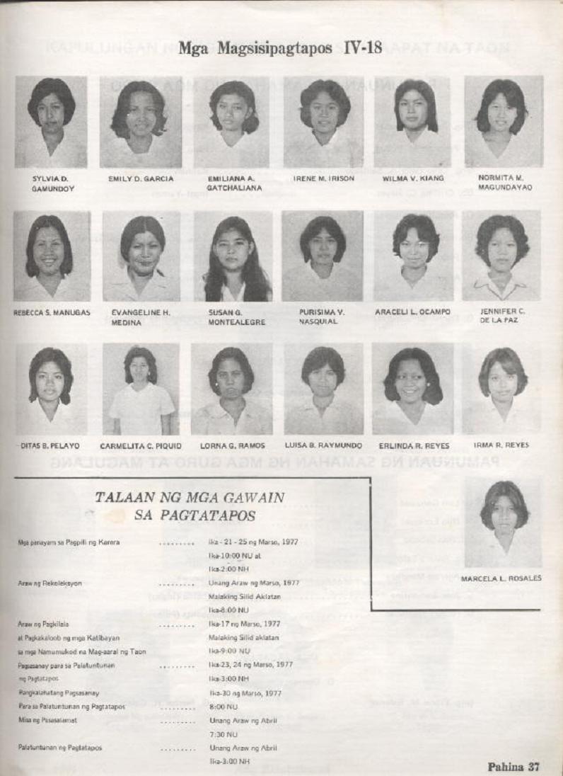 """ANG KINABUKASAN"" – ARAULLO HIGH SCHOOL BATCH 1977 YEARBOOK Ang_ki39"