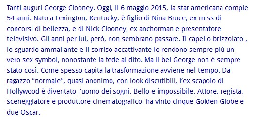Buon compleanno George Clooney George11