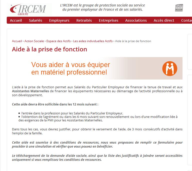 AIDE de L'IRCEM 11178211