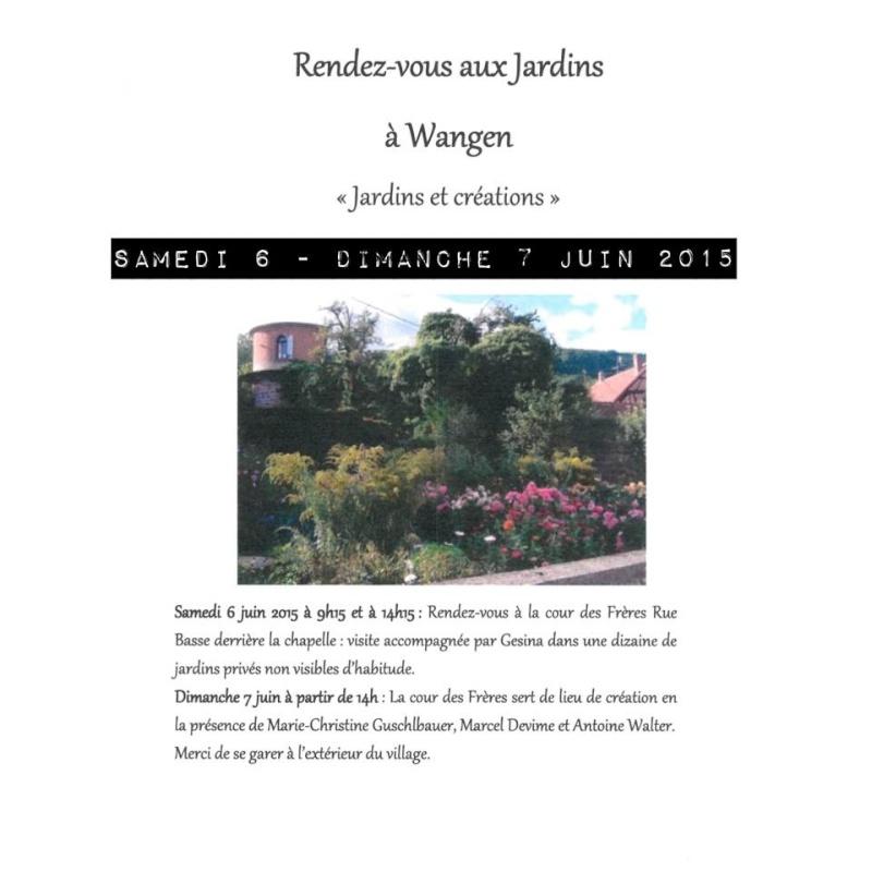 Rendez-vous aux jardins à Wangen les 6 et 7 juin 2015 avec l'association Découvrir. 10408610