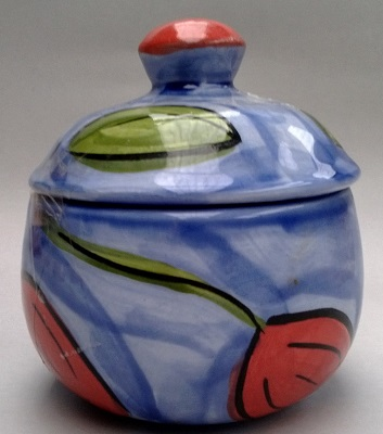 Christine Harris Tamarillo Lidded Sugar Bowl Christ11