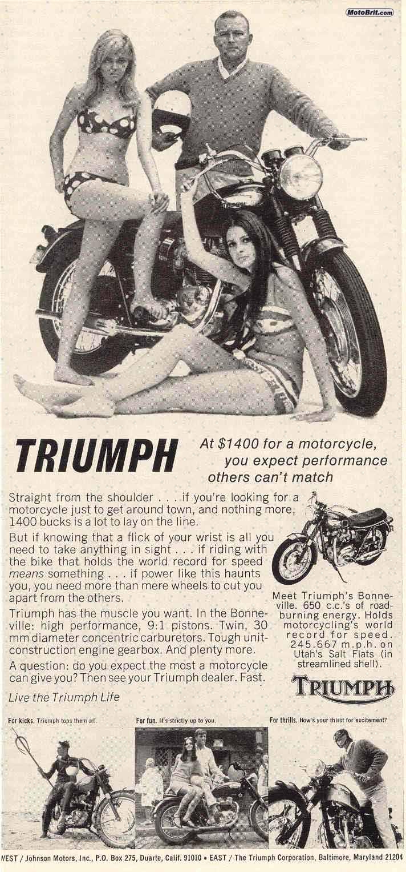 TRIUMPH BONNEVILLE T120R 1968 7tri10