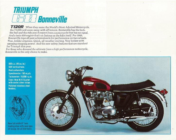 TRIUMPH BONNEVILLE T120R 1968 Triump11