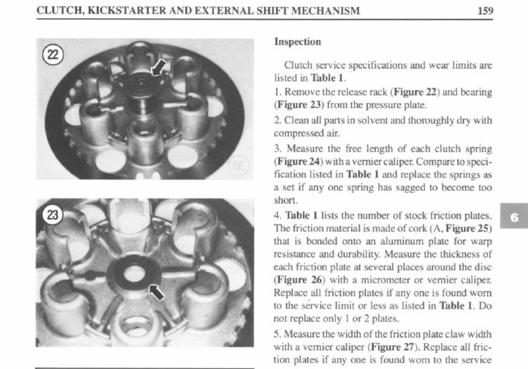 """Frizione smontaggio (attenzione errore sul manuale officina """"Clymer"""") Attuat10"""