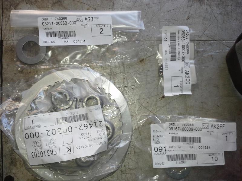 """Frizione smontaggio (attenzione errore sul manuale officina """"Clymer"""") Ricamb10"""