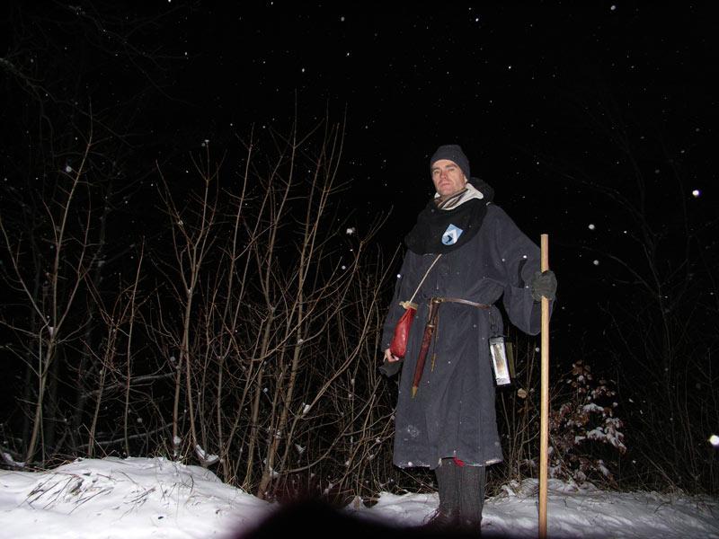 Rando médiévale de nuit dans la neige par -7° à 1200m d'alt. A10