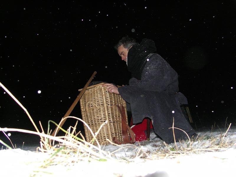 Rando médiévale de nuit dans la neige par -7° à 1200m d'alt. C10