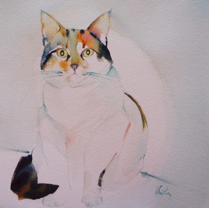 Le portrait de votre chat à l'aquarelle...Au profit de l'Ecole du chat de Quiberon - Page 18 Mimitt10