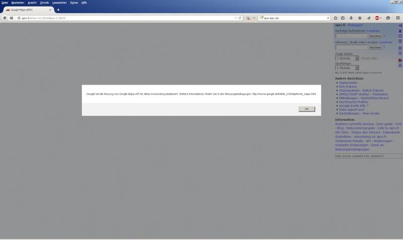 Google-API unter APRS.FI nicht erreichbar! Zwisch11