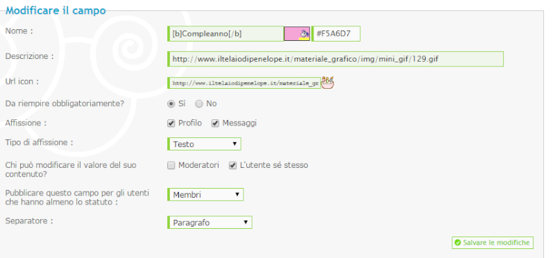 Iconcine nei profili non visibili Stamp110