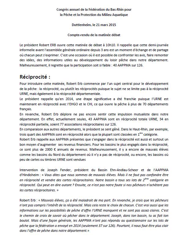 Congrès annuel de la Fédération du Bas-Rhin pour la Pêche et la Protection du Milieu Aquatique. 110