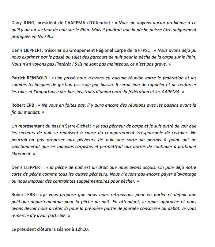 Congrès annuel de la Fédération du Bas-Rhin pour la Pêche et la Protection du Milieu Aquatique. 910