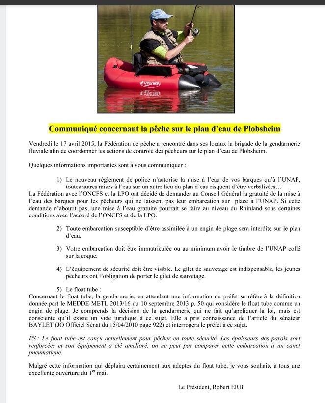 Communiqué concernant la pêche sur le plan d'eau de Plobsheim. Sans_t13