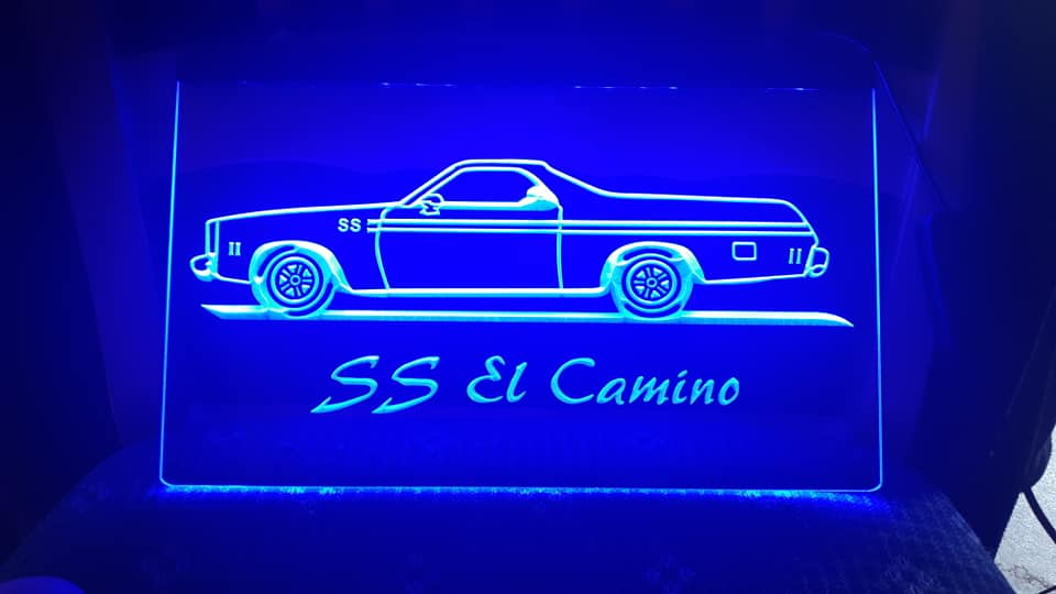 "8"" x 12"" Lighted Signs Chevelle, Laguna, Elcamino and NOW MONTE CARLO 14779510"