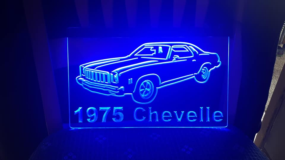 "8"" x 12"" Lighted Signs Chevelle, Laguna, Elcamino and NOW MONTE CARLO 14780010"