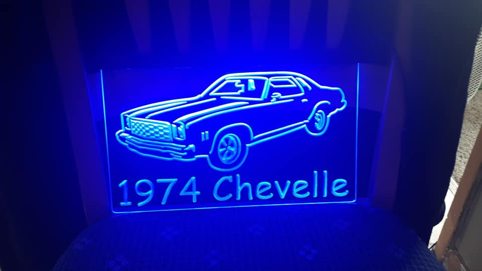 "8"" x 12"" Lighted Signs Chevelle, Laguna, Elcamino and NOW MONTE CARLO 14792710"