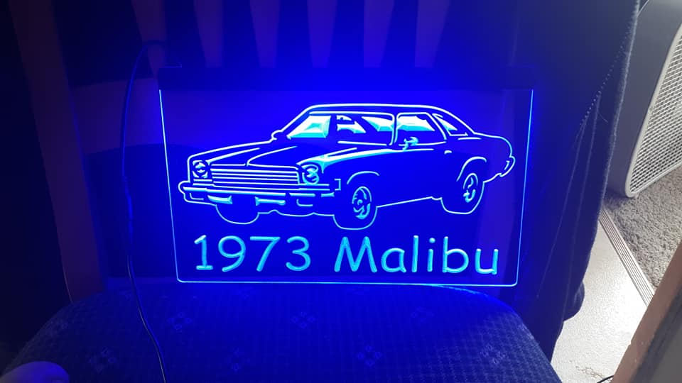 "8"" x 12"" Lighted Signs Chevelle, Laguna, Elcamino and NOW MONTE CARLO 14797110"