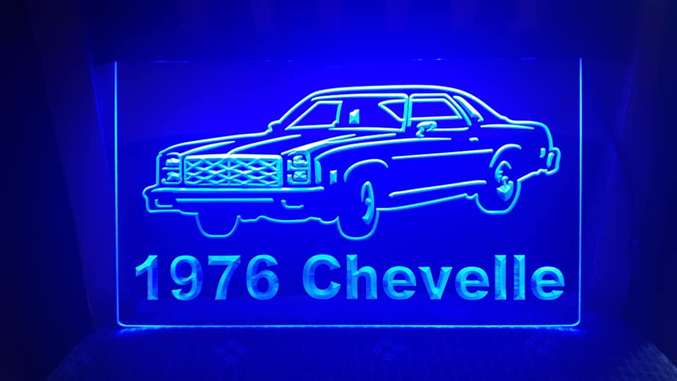 "8"" x 12"" Lighted Signs Chevelle, Laguna, Elcamino and NOW MONTE CARLO 14804310"