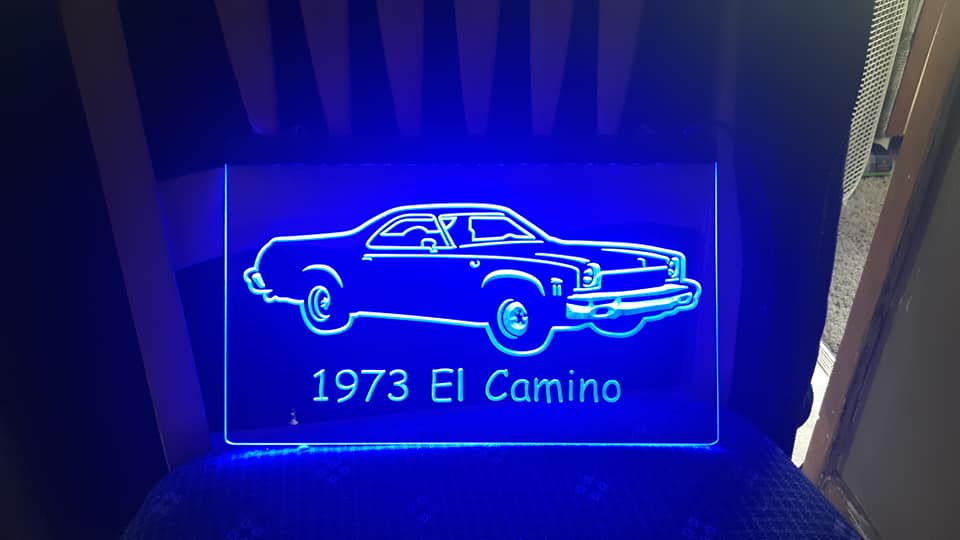 "8"" x 12"" Lighted Signs Chevelle, Laguna, Elcamino and NOW MONTE CARLO 14824310"