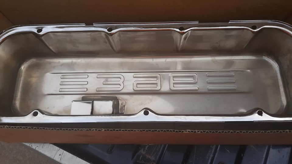 BBC TALL 396 embossed valve covers with Pics  57503510