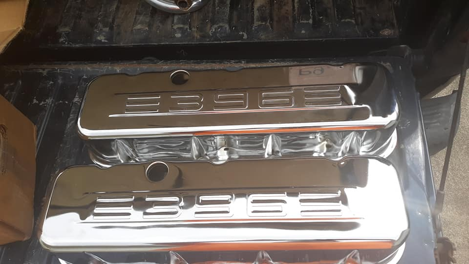 BBC TALL 396 embossed valve covers with Pics  57618210