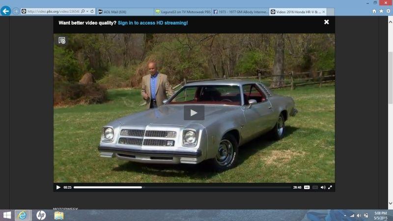 LagunaS3 on TV Motorweek PBS Screen11