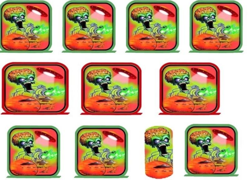 Projet : Restauration Pinball 2000 Revenge From Mars [TERMINE] - Page 2 Sticke10