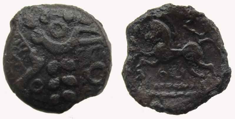 Bronze gaulois AMBIENS Bronze composite au cheval Dt433-10
