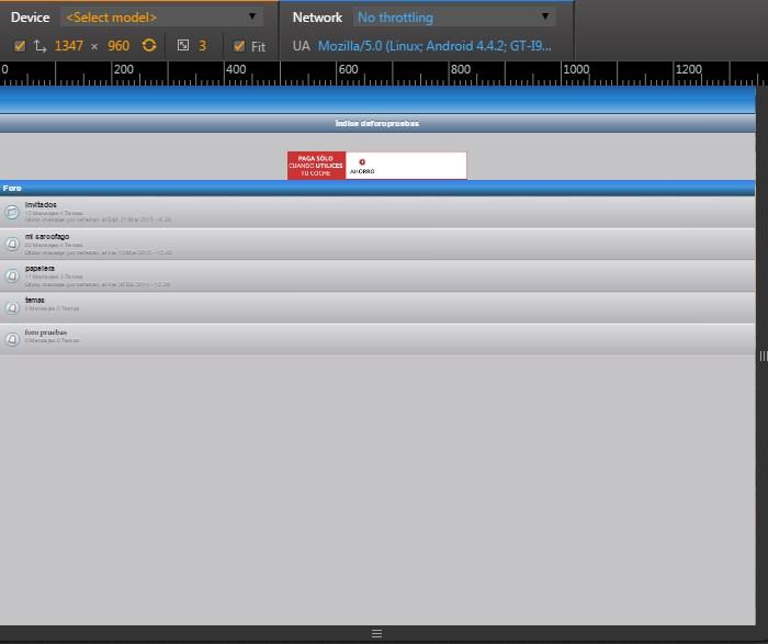 Emular version movil en cualquier navegador Screen12