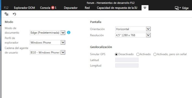 Emular version movil en cualquier navegador Screen13