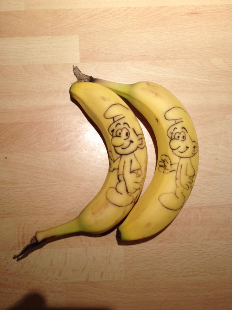 Schtroumpfs en chocolat  Banane10